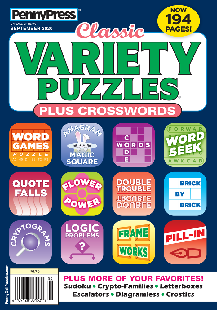 Classic Variety Puzzles Plus Crosswords
