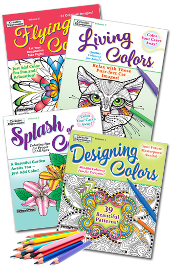 Coloring Book Value Pack-4 With Pencils