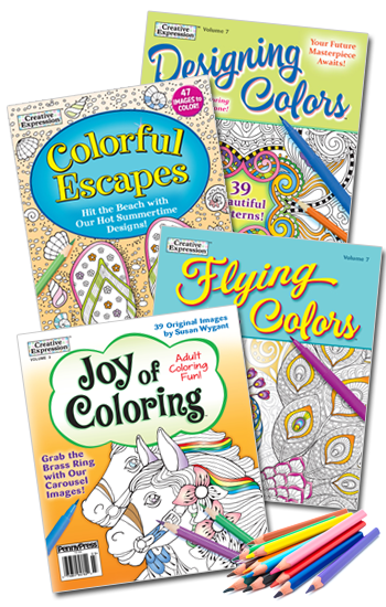 Coloring Book Value Pack-8 With Pencils