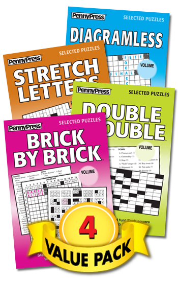 Crosswords With-a-Twist Showcase Value Pack-4
