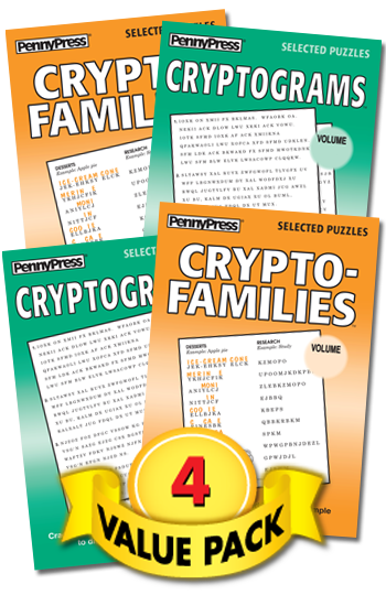 Crypto-Puzzles With-a-Twist Showcase Value Pack-4