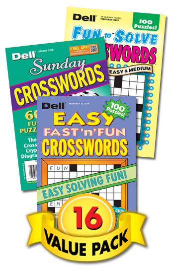 Dell All-Crossword Value Pack-16