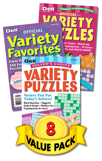 Dell All-Variety Puzzles Value Pack-8