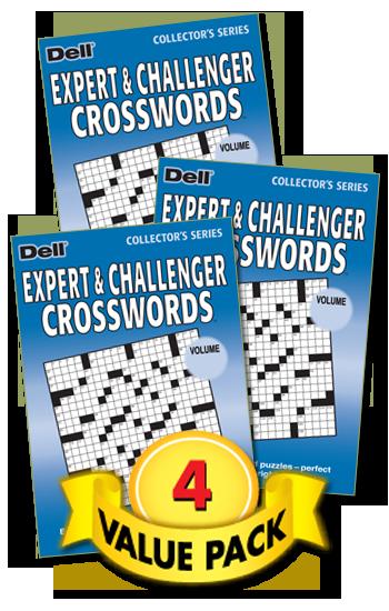 Expert & Challenger Crossword Value Pack-4