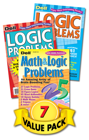Dell Logic & Math Puzzle Value Pack-7