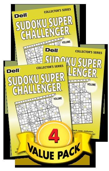 Sudoku Super Challenger Value Pack-4