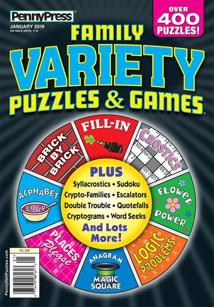 Family Variety Puzzles & Games