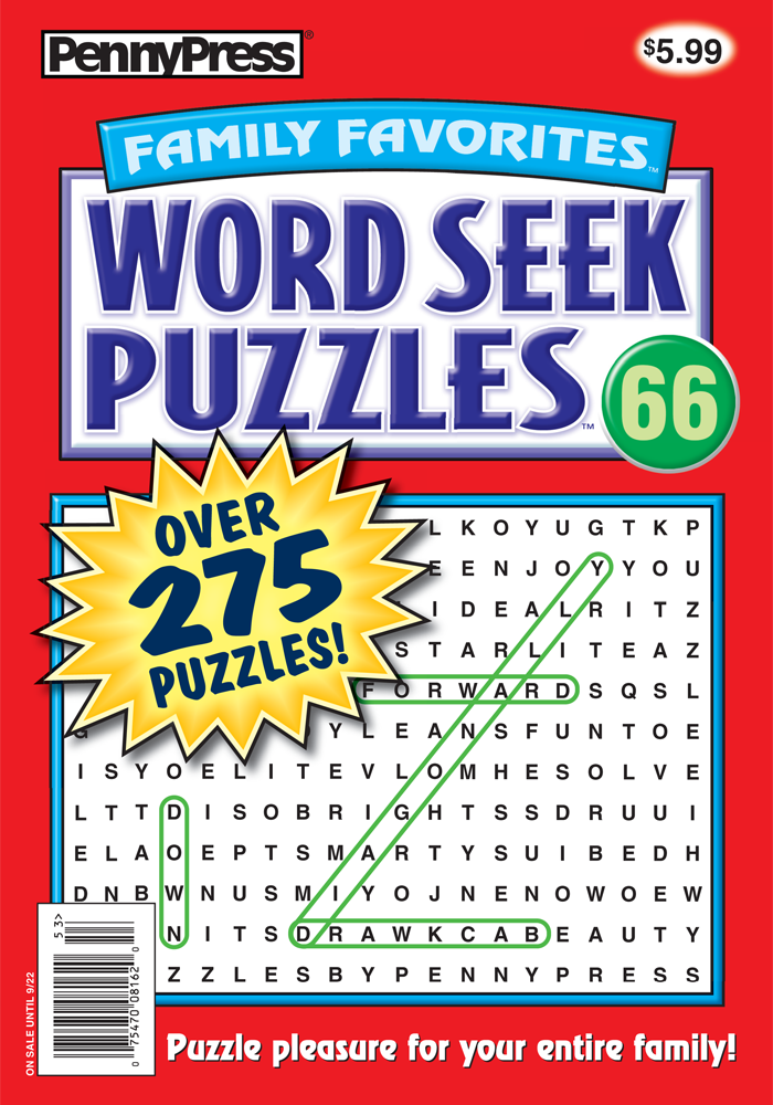 Family Favorites Word Seek Puzzles