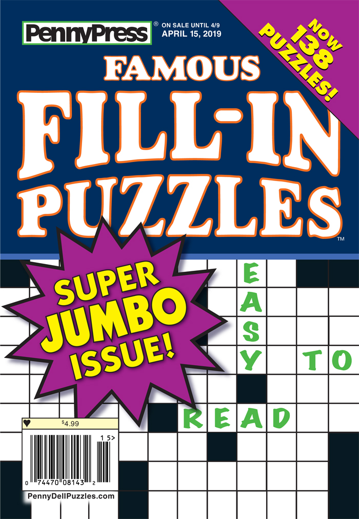 Famous Fill-In Puzzles