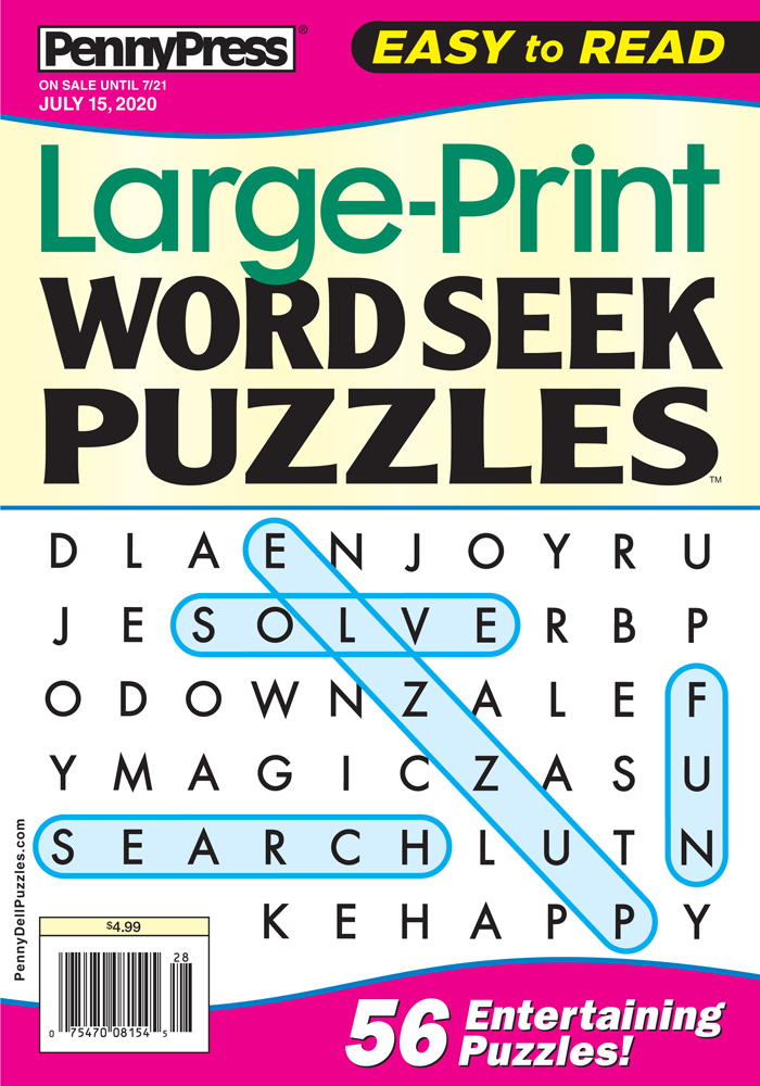 Large-Print Word Seek Puzzles