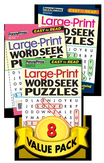 Large-Print Word Seek Value Pack-8