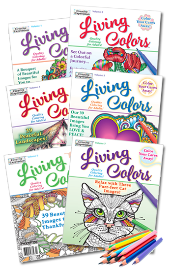 Living Colors Coloring Book Value Pack-6 With Pencils