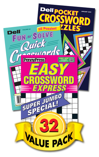 Penny & Dell All-Crossword Value Pack-32