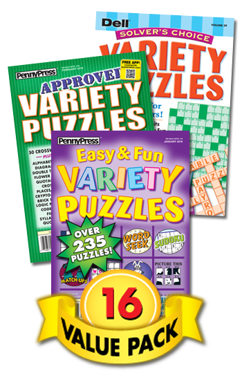 Penny & Dell All-Variety Puzzles Value Pack-16