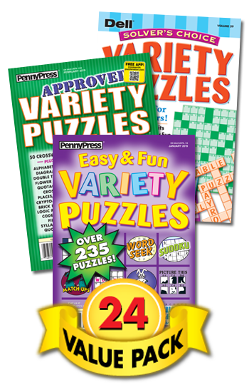 Penny & Dell All-Variety Puzzles Value Pack-24