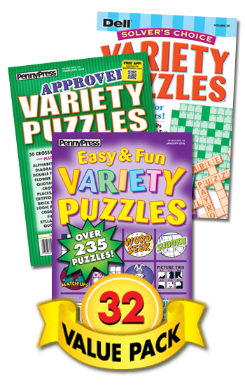 Penny & Dell All-Variety Puzzles Value Pack-32