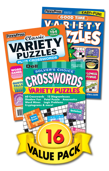 Penny & Dell Crossword & Variety Puzzles Value Pack-16