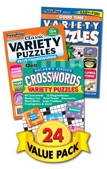 Penny & Dell Crossword & Variety Puzzles Value Pack-24