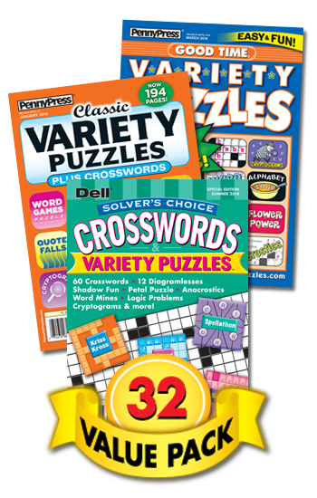 Penny & Dell Crossword & Variety Puzzles Value Pack-32