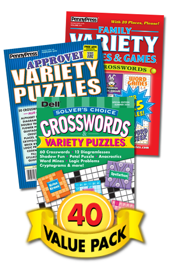 Penny & Dell Crossword & Variety Puzzles Value Pack-40