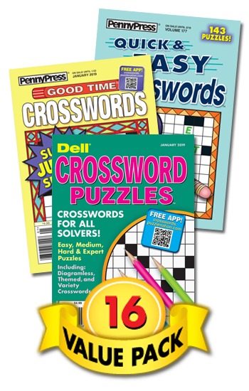Penny & Dell Crosswords Value Pack-16