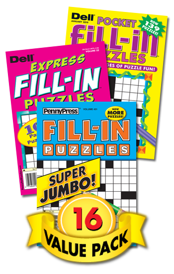 Penny & Dell Fill-In Puzzles Value Pack-16