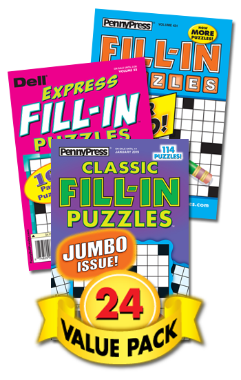 Penny & Dell Fill-In Puzzles Value Pack-24