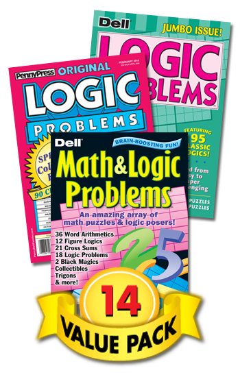 Penny & Dell Logic & Math Value Pack-14