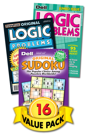 Penny & Dell Logic And Sudoku Value Pack-16