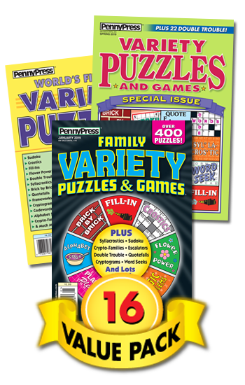 Penny Press All-Variety Puzzles Value Pack-16