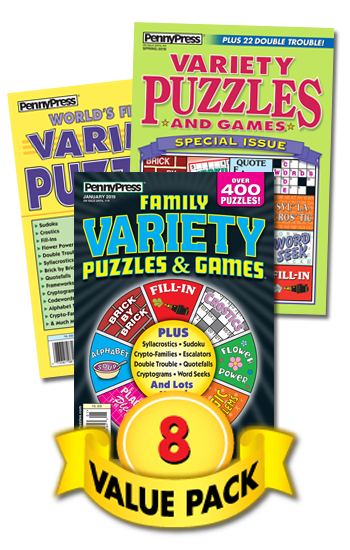 Penny Press All-Variety Puzzles Value Pack-8