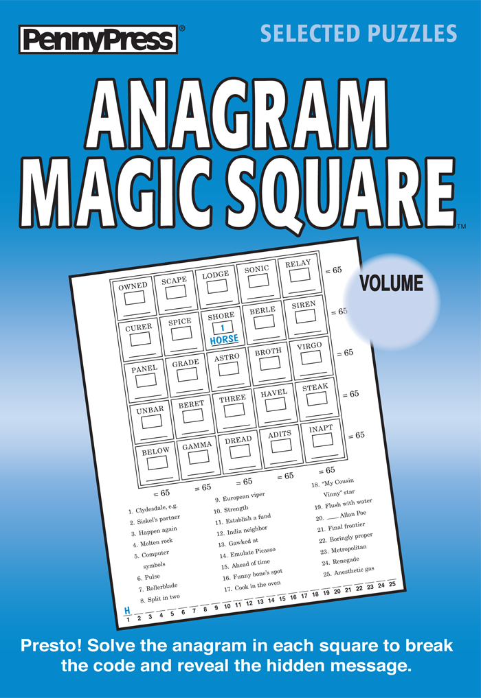 Anagram Magic Square