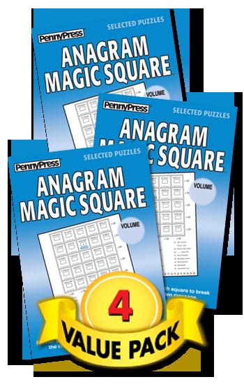 Anagram Magic Square Value Pack-4