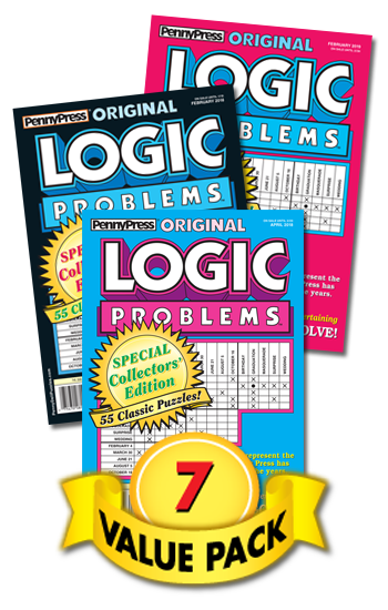 Penny Press Logic Problems Value Pack-7