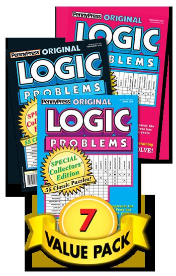 Penny Press Logic Problems Value Pack-7