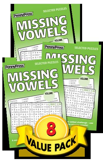 Missing Vowels Value Pack-8