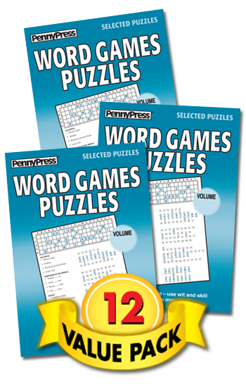 Word Games Puzzles Value Pack-12