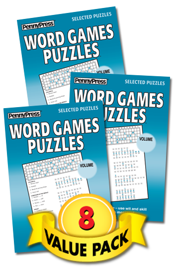 Word Games Puzzles Value Pack-8
