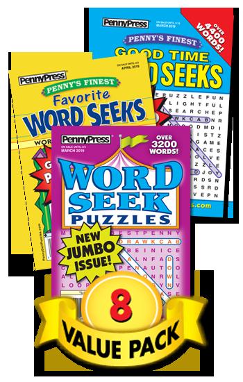 Penny Press Word Seek Value Pack-8