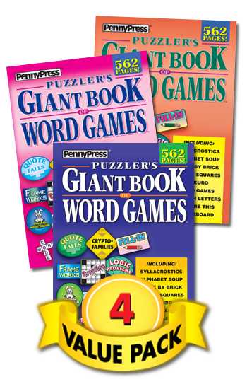 Puzzler's Giant Book Of Word Games Value Pack-4