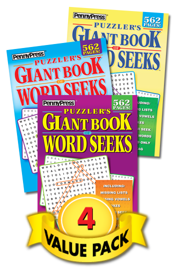 Puzzler's Giant Book Of Word Seeks Value Pack-4