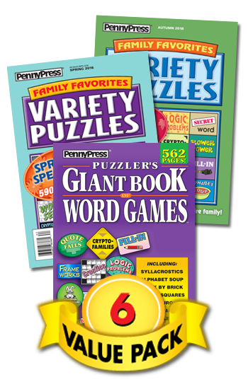 Variety Puzzles & Word Games Value Pack-6