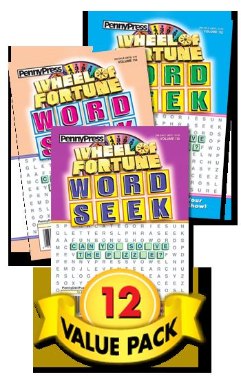 Wheel Of Fortune Word Seek Value Pack-12
