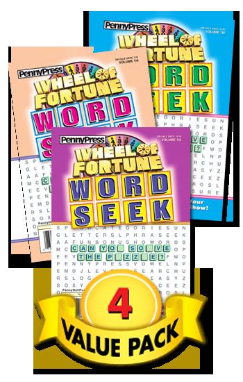 Wheel Of Fortune Word Seek Value Pack-4