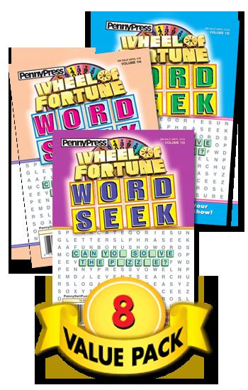 Wheel Of Fortune Word Seek Value Pack-8