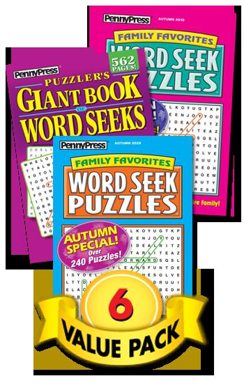Word Seek Books Value Pack-6