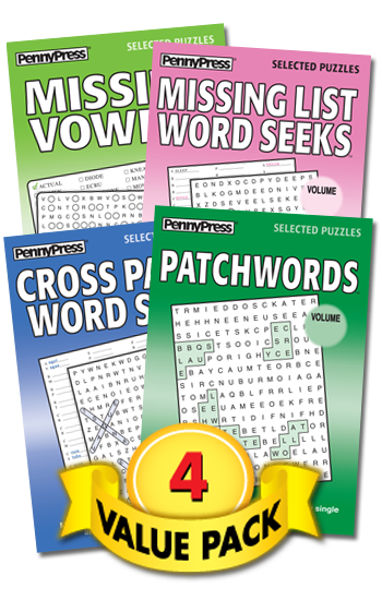 Word Seeks With-a-Twist Showcase Value Pack-4