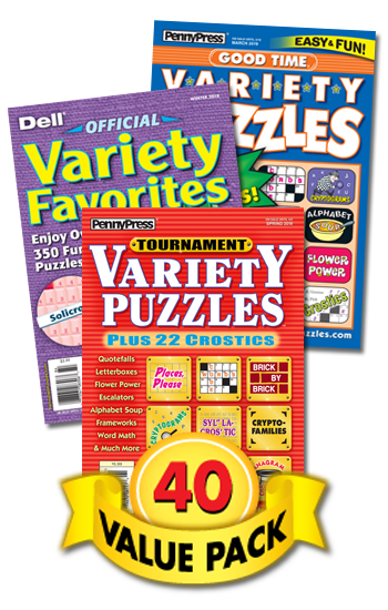 Penny & Dell All-Variety Puzzles Value Pack-40