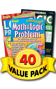 Penny & Dell Logic & Math Value Pack-40