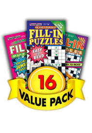 Penny Press Fill-In Puzzles Value Pack-16